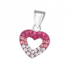 Heart - 925 Sterling Silver Pendants for kids A4S17900