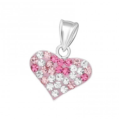 Heart - 925 Sterling Silver Pendants for kids A4S18326