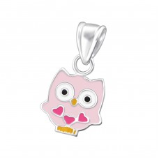 Owl - 925 Sterling Silver Pendants for kids A4S18705