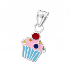 Cupcake - 925 Sterling Silver Pendants for kids A4S18973