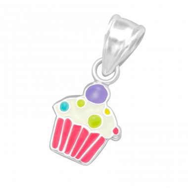 Cupcake - 925 Sterling Silver Pendants for kids A4S18975