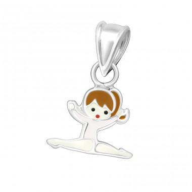 Gymnastics Girl - 925 Sterling Silver Pendants for kids A4S18978