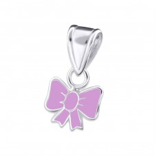 Bow - 925 Sterling Silver Pendants for kids A4S19071