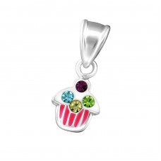Cupcake - 925 Sterling Silver Pendants for kids A4S19178