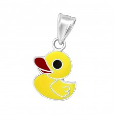 Duck - 925 Sterling Silver Pendants for kids A4S19315