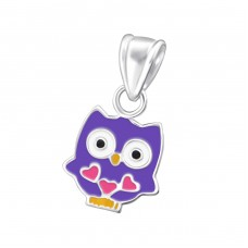 Owl - 925 Sterling Silver Pendants for kids A4S20172