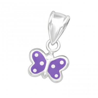 Butterfly - 925 Sterling Silver Pendants for kids A4S20625