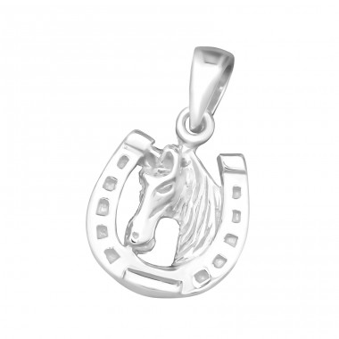 Horseshoe - 925 Sterling Silver Pendants For Kids A4S23866