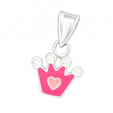Crown - 925 Sterling Silver Pendants for kids A4S23868
