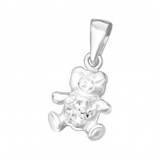 Bear - 925 Sterling Silver Pendants for kids A4S24924