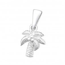 Coconut Tree - 925 Sterling Silver Pendants for kids A4S24964