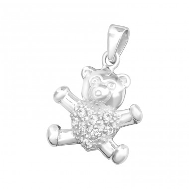 Teddy Bear - 925 Sterling Silver Pendants for kids A4S2791