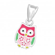 Owl - 925 Sterling Silver Pendants for kids A4S30280