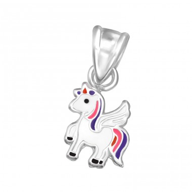 Unicorn - 925 Sterling Silver Pendants for kids A4S30985