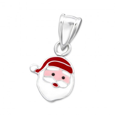 Santa Clause - 925 Sterling Silver Pendants for kids A4S31060
