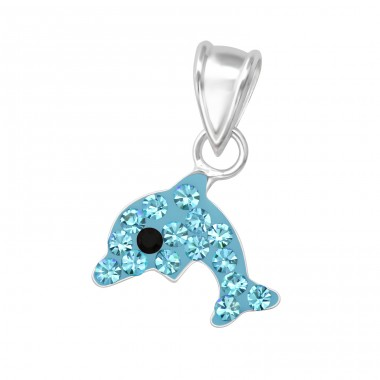 Dolphin - 925 Sterling Silver Pendants For Kids A4S35263