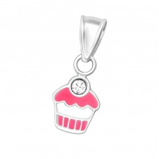 Cupcake - 925 Sterling Silver Pendants for kids A4S36663