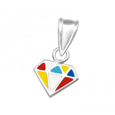 Diamond Shaped - 925 Sterling Silver Pendants for kids A4S36919