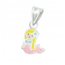 Mermaid - 925 Sterling Silver Pendants for kids A4S36924