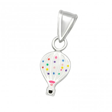 Hot Air Balloon - 925 Sterling Silver Pendants for kids A4S36927