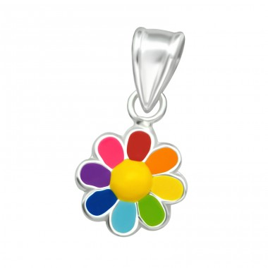 Flower - 925 Sterling Silver Pendants for kids A4S36928