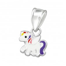 Unicorn - 925 Sterling Silver Pendants for kids A4S36929
