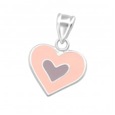 Heart - 925 Sterling Silver Pendants for kids A4S37619