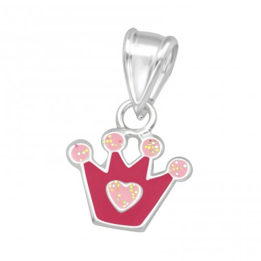 Crown - 925 Sterling Silver Pendants for kids A4S39411