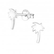 Palm Tree - 925 Sterling Silver Ear Studs for kids A4S1317