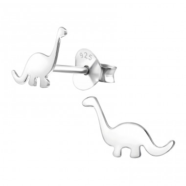 Dinosaur - 925 Sterling Silver Ear Studs for kids A4S18766