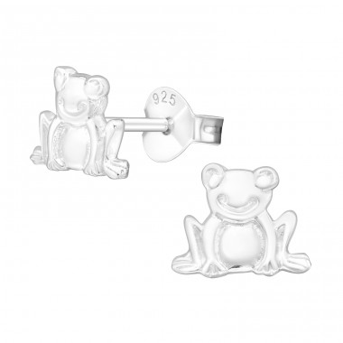 Frog - 925 Sterling Silver Ear Studs for kids A4S19038
