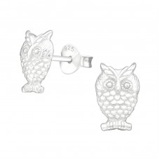 Owl - 925 Sterling Silver Ear Studs for kids A4S20467