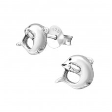 Dolphin - 925 Sterling Silver Ear Studs for kids A4S20528