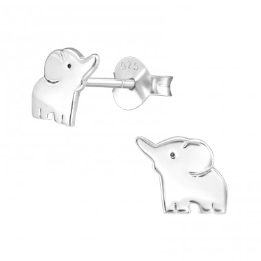 Elephant - 925 Sterling Silver Ear Studs for kids A4S20817