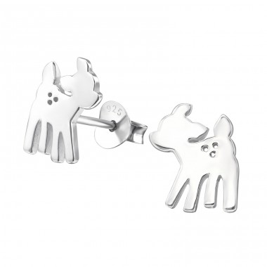 Deer - 925 Sterling Silver Ear Studs for kids A4S20821