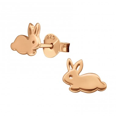 Rabbit - 925 Sterling Silver Ear Studs for kids A4S21031