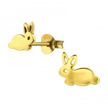 Rabbit - 925 Sterling Silver Ear Studs for kids A4S21078