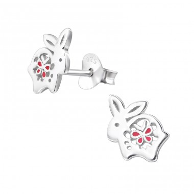 Rabbit - 925 Sterling Silver Ear Studs for kids A4S21360