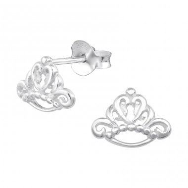 Tiara - 925 Sterling Silver Ear Studs for kids A4S21368