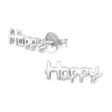 Happy - 925 Sterling Silver Ear Studs for kids A4S21397