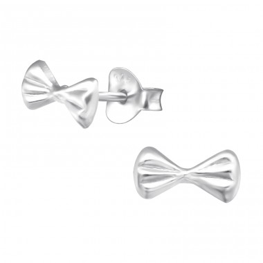 Bow Tie - 925 Sterling Silver Ear Studs for kids A4S21409