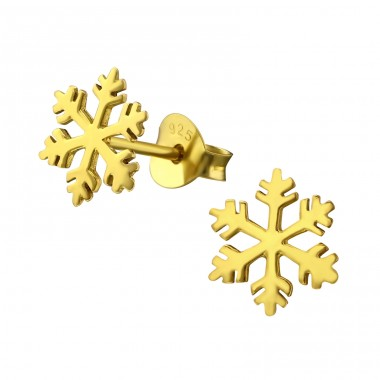 Snowflake - 925 Sterling Silver Ear Studs for kids A4S21459