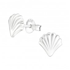 Shell - 925 Sterling Silver Ear Studs for kids A4S21757