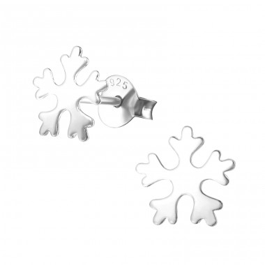 Snowflake - 925 Sterling Silver Ear Studs for kids A4S21759