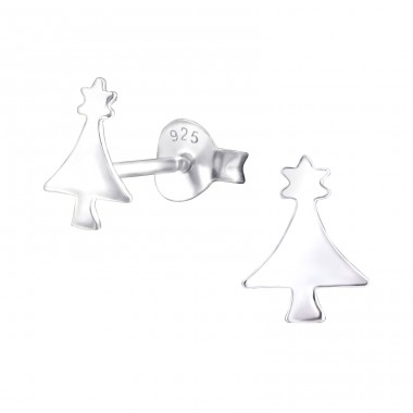 Christmas Tree - 925 Sterling Silver Ear Studs for kids A4S22356
