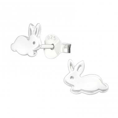 Rabbit - 925 Sterling Silver Ear Studs for kids A4S22395