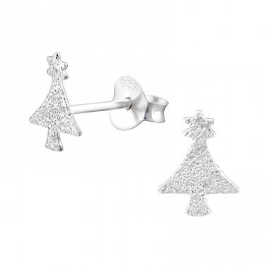Christmas Tree - 925 Sterling Silver Ear Studs for kids A4S22487