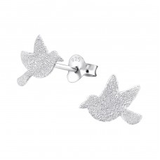 Bird - 925 Sterling Silver Ear Studs for kids A4S22946