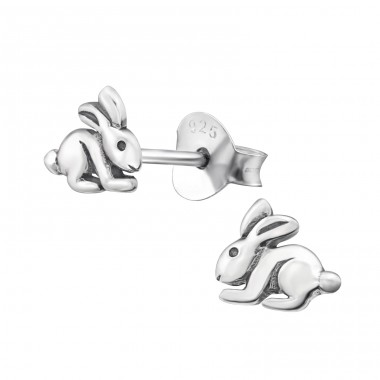 Rabbit - 925 Sterling Silver Ear Studs for kids A4S23218