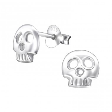 Skull - 925 Sterling Silver Ear Studs for kids A4S24719